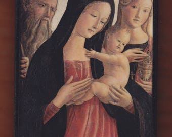 Neroccio De' Landi (1447-1500) Madonna and Child Saint Jerome and Mary Magdalene.FREE SHIPPING