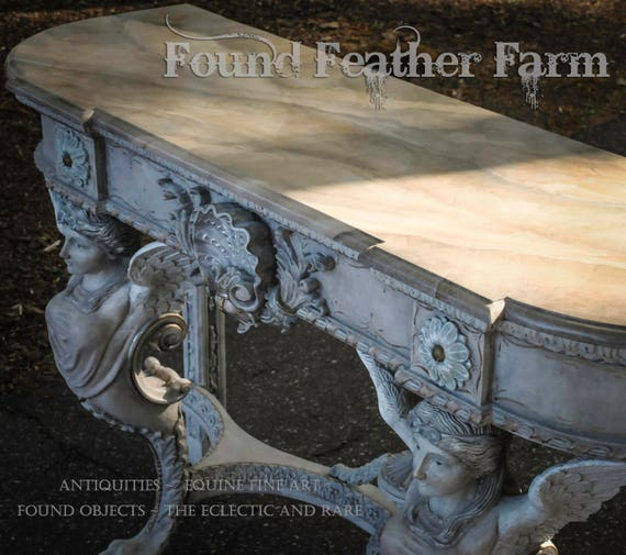 A Stunning One of a Kind Faux Painted Mahogany Console Table