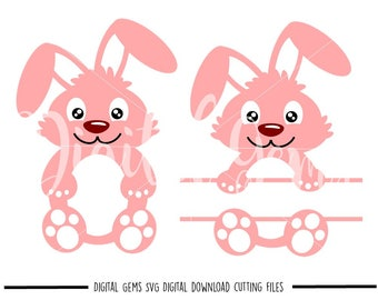 Bunny Rabbit, Easter svg / dxf / eps / png files. Digital download. Compatible with Cricut and Silhouette machines. Small commercial use ok.