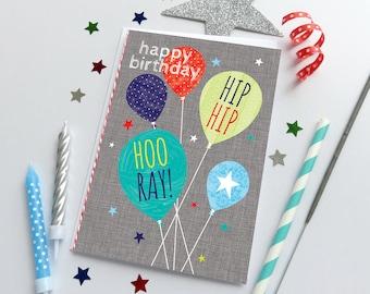 5 HANDMADE BIRTHDAY cards with gems, twine and envelopes, male cards, female cards, birthday greeting cards, female birthday cards, friend