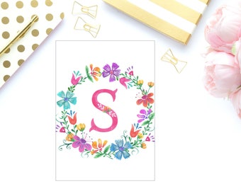 Bright floral initial planner dashboard