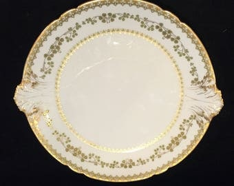 Antique Haviland Limoges Cake Plate with Handles