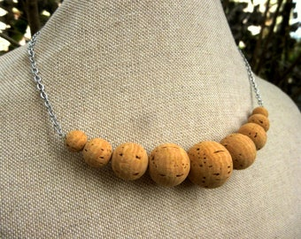 Beads Necklace-9 Cork beads