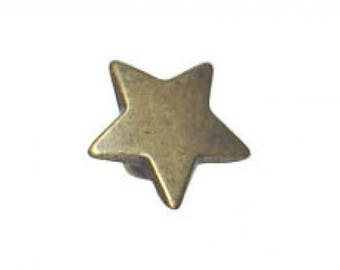 12 mm metal star button.