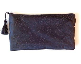 Black Clutch, black glitter clutch, black purse, brides purse, bridesmaid gift, evening bag, bridal clutch,