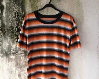 SALE 30% Vtg I.S Premier Border Striped Shirt Sz M