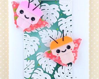 Handmade Origami Burtterflies Birthday Card