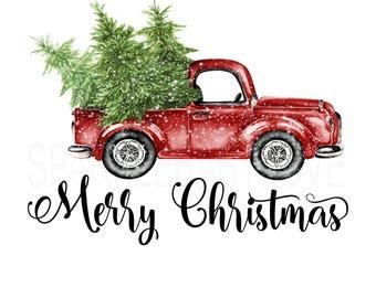 Merry christmas tree | Etsy