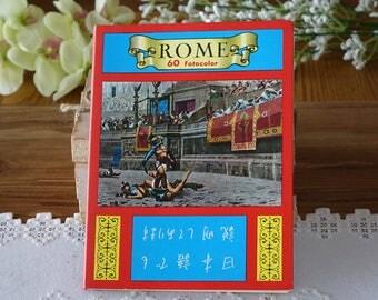 Vintage Italy photographs - Rome - 60 fotocolor - Souvenir - Travel - Book