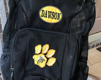 Mesh Backpack | Tiger Backpack | Boys Backpack | Football Backpack | Embroidered Mesh Backpack | Personalized Baseball | Tiger Bookbag