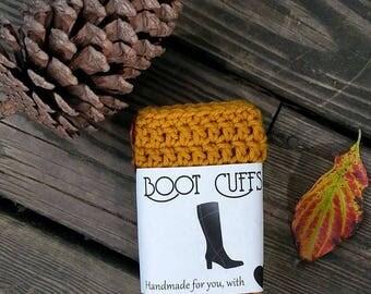 Boot Cuffs, Crocheted Boot Cuff, Leg Warmers