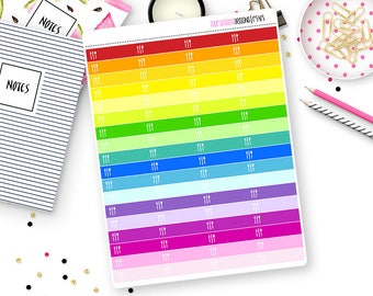 Custom Color Meal Plan or Hydrate Stickers for Erin Condren Life Planner, Plum Paper or Mambi Happy Planners