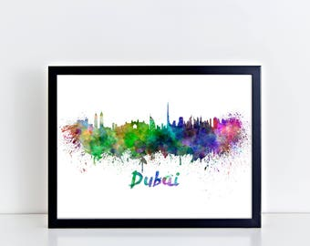 Uae map etsy for Home decor uae