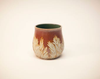 tea cup, stoneware cup, earthenware cup, flower pot, pottery cup, wheel thrown dish