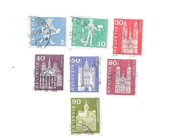1960- Switzerland - Postal History & Monuments  - 7 different used  used  CH400