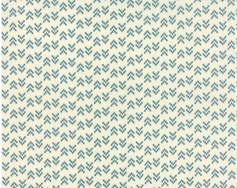 ON SALE Floral Geometric Triangles Turquoise Natural - NOMAD Arrowheads Bone Sky - by Urban Chiks for Moda Fabrics - 31106 21