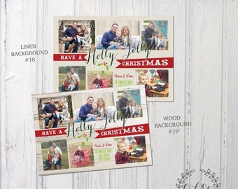 HALF OFF Collage Christmas Card, Family Christmas Card, Photo Collage Card, Customized Christmas Card
