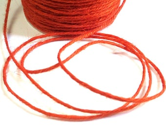 5 m orange 2mm hemp cord