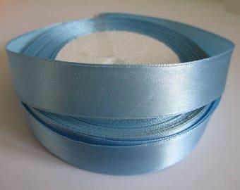 10 m 20mm sky blue colored satin ribbon