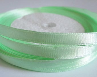 23 m reel clear 6mm Green satin ribbon