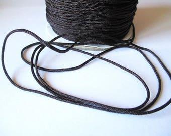 5 m 1.5 mm dark brown nylon string