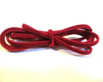 3 x 1 m wool red color suede cord