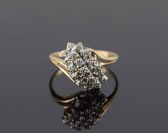 10k 0.20 CTW Diamond Cluster Ring Gold