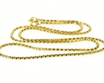 14k 1.9mm Popcorn Link Fancy Chain Necklace Gold 20""