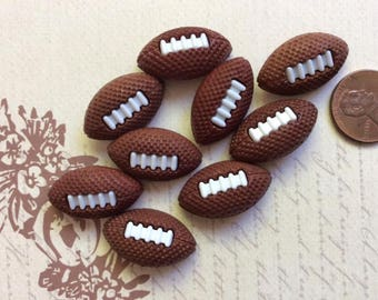 SET of 8 Shank Football Sewing Buttons