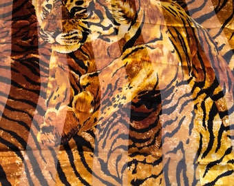 Leonard large Tiger Leonard silk scarf large silk scarf tiger never worn