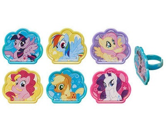 My Little Pony Cutie Beauty Cupcake Rings - 24 Rings