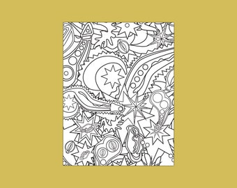 """Pure Filth 2"" Naughty Adult Coloring Page"
