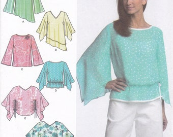 FREE US SHIP Simplicity 4700 Tops Poncho Sleeve Variations Easy Sewing Pattern Uncut Size 14/20 14 16 18 20 Bust 36 38 40 42 New