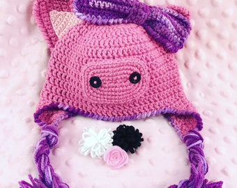 Piggy Hat || Pig Hat || Crochet Hat || Winter Hat