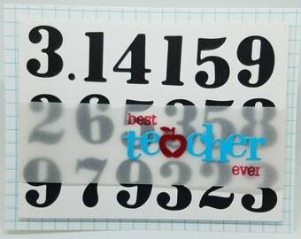 Math thank you card  Etsy