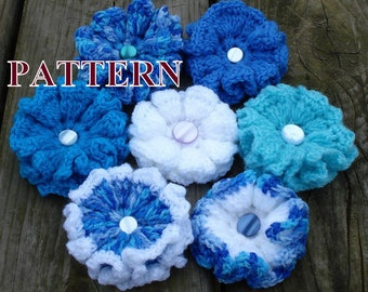 Crochet Flower PATTERN flower crochet pattern crochet flowers pattern PDF easy tutorial instant download PDF Pattern 018byOlgaAndrewDesigns©