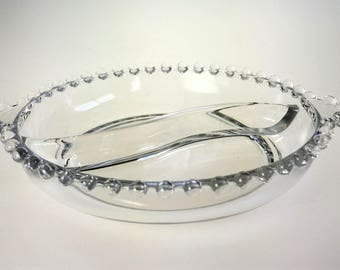 Imperial Glass Candlewick 2 Part Divided Relish Dish