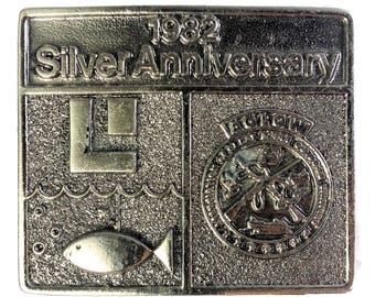 1982 Silver Anniversary Belt Buckle Association of Great Lakes Outdoor Writers