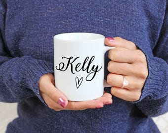 Personalised gift mugs - Christmas gifts - Name - Name gifts - Stocking fillers - Gifts for her - Gifts for him