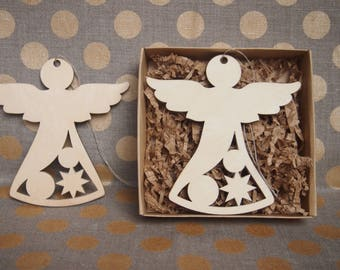 Christmas Wooden Angels, Wood Decor / Christmas Gift, Holiday Fireplace - Christmas Decoration