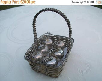 ON SALE Place Card Holder//Name Card Holder//Retro//Apple//Apple Card Holders//French Vintage//Found And Flogged