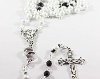 Swarovski Wedding Rosary, Groom - Customizable