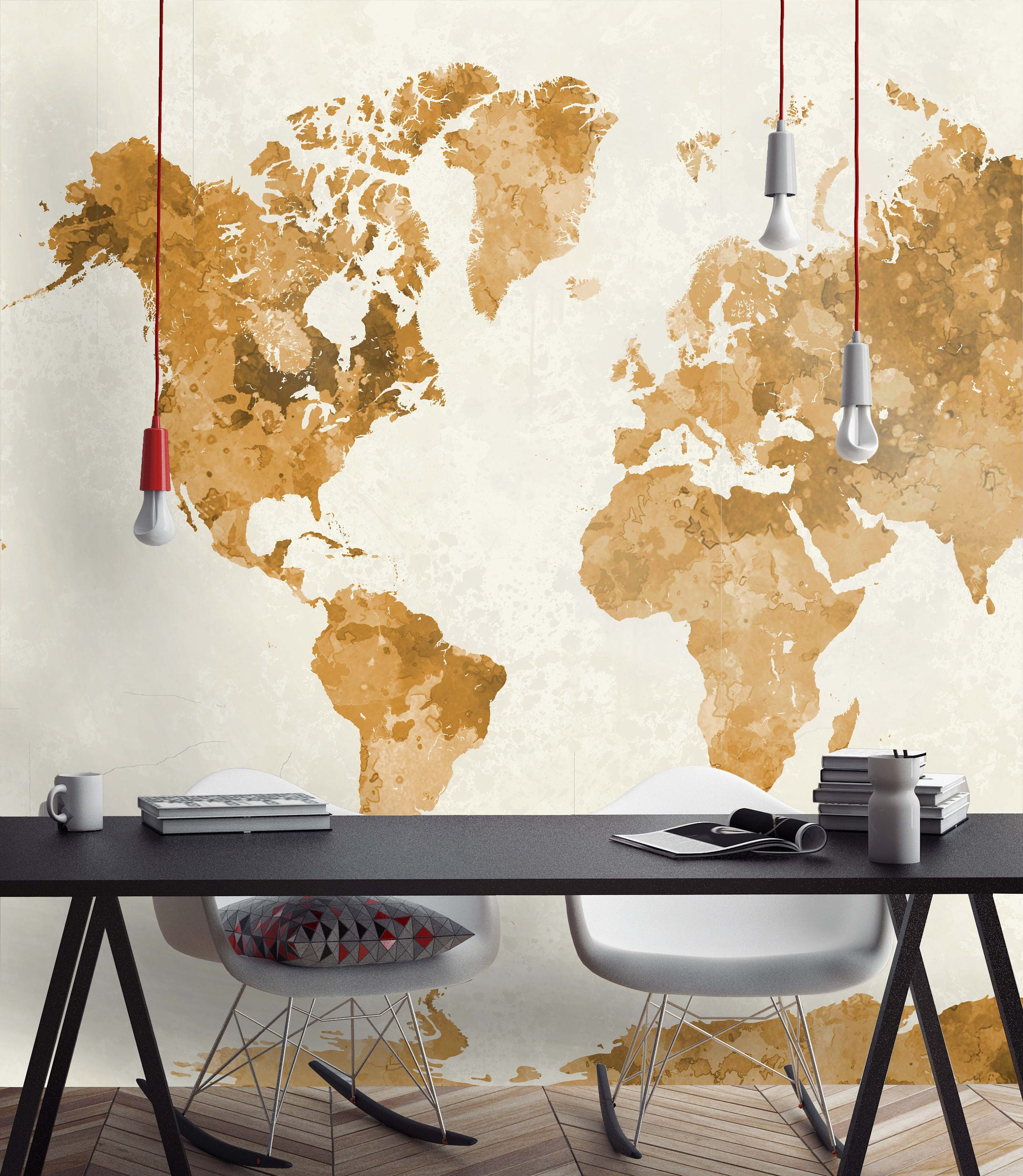 Watercolor World Map Wallpapers   Wallpapers Large World Map   Wallpapers  Extra Large World Map   Wall Decor