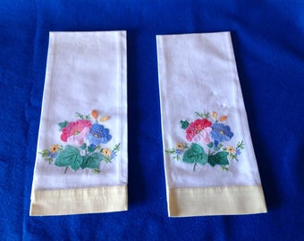 Linen Embroidered Tea Towels