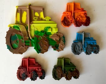 Tractor Crayons set of 5