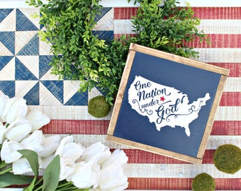 July 4th Wood Sign ~ United States Sign,Farmhouse Signs,USA