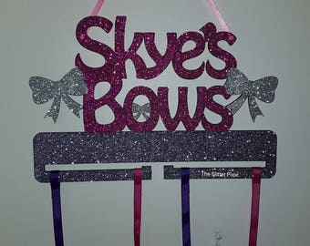 Personalised bow holder, bow holder, bow storage, bows, bow, gifts for kids, gifts for girls
