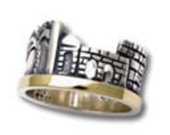 jerusaleo ring    silver  &gold