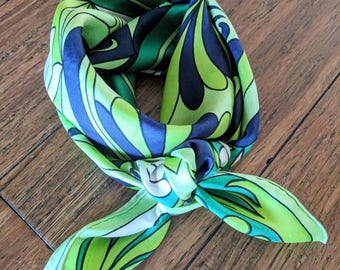 Beautiful Large Vintage Jean Patou Silk Scarf Wrap