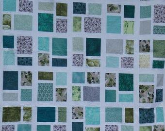 full size quilt, homemade quilt, butterfly quilt, modern quilt, green quilt, blue quilt